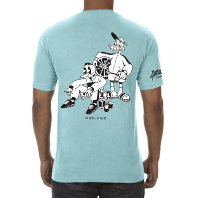 Outlawz Tattoo x Lugosis x Strato T-Shirt Turquoise