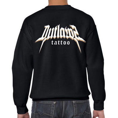 Outlawz Tattoo Sweater Black