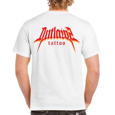 Outlawz Tattoo T-Shirt White