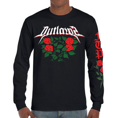 Outlawz Tattoo / Pruden Roses / Longsleeve / Black